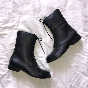 Urban Outfitters Black Lace Up Combat Boots